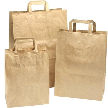 Paper carrying Bags Brown 220x100x280mm - Horecavoordeel.com