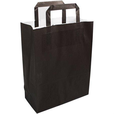 Paper carrying Bags Black 22x10x28mm - Horecavoordeel.com