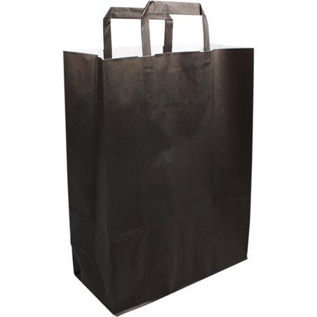 Paper carrying Bags Black 26x12x35cm - Horecavoordeel.com