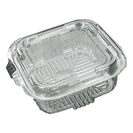 Saladebakken 500cc Transparant Vierkant + Vaste Deksels 132 x 132 x 50mm Horecavoordeel.com