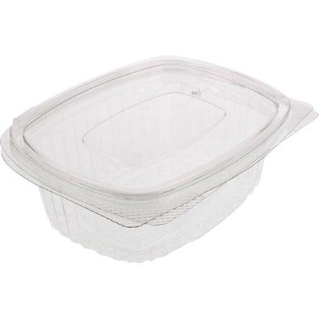 Saladebakken 1000cc Rechthoek Transparant Lekdicht (Klein-verpakking) Horecavoordeel.com