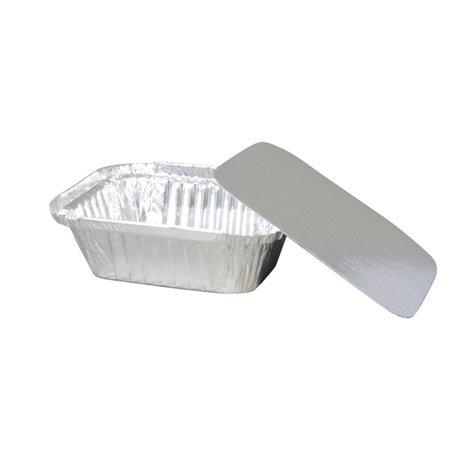 Deksels voor Aluminium Bakken 250cc 122 x 96 x 34mm (Klein-verpakking) Horecavoordeel.com