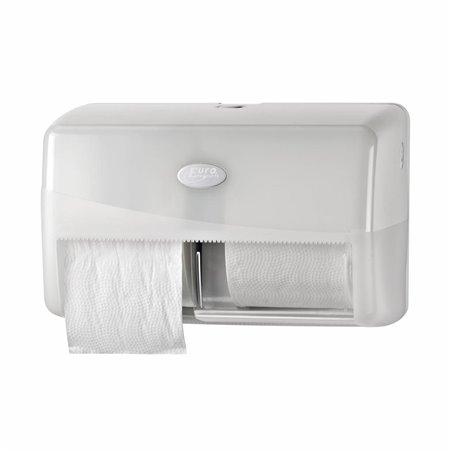 Toiletpapierdispenser Euro Duo Pearl White Horecavoordeel.com
