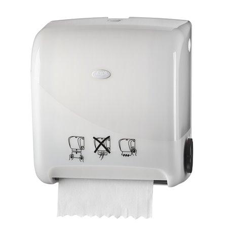 Handdoek Automaat Euro Matic Auto cut Pearl White Horecavoordeel.com