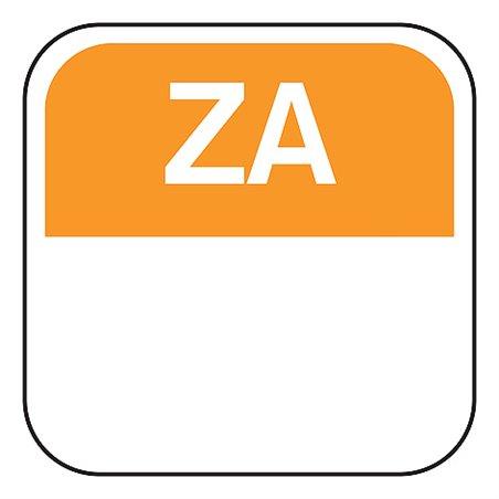 Dagstickers Zaterdag 25 x 25mm Oranje Verwijderbaar Horecavoordeel.com
