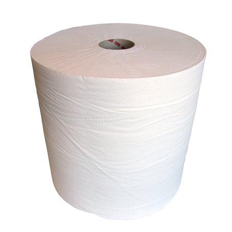 Poetsrol Cellulose 1 Laags Wit 700m x 26cm Horecavoordeel.com