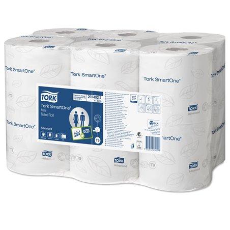 Toiletpapier Mini Smart One T9 2 Laags Wit 620 vel Horecavoordeel.com