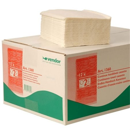 Handdoek Cassette Vendor 1360 2 Laags Horecavoordeel.com