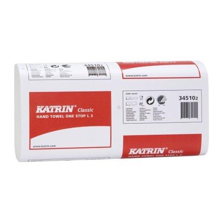Handdoek Recycled L3 Katrin Inter Gevouwen 3 Laags W-vouw 235 x 340mm Horecavoordeel.com