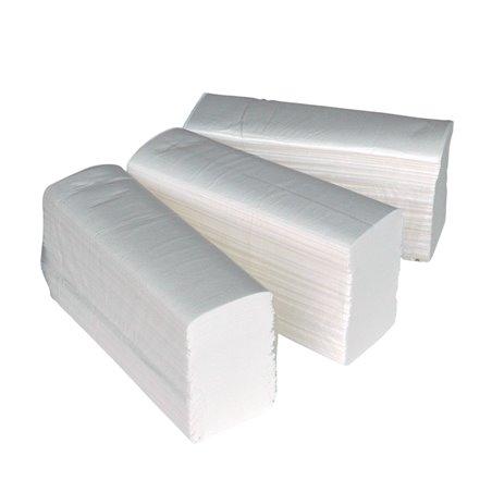 Handdoek Mini-folded Cellulose Euro 2 Laags Wit Horecavoordeel.com