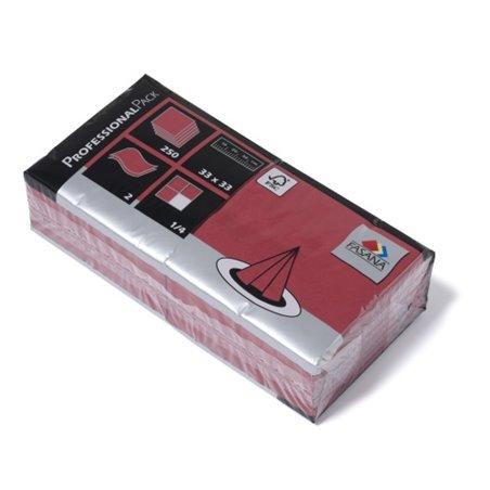 Servetten Bordeaux Rood 2 Laags 1/4 Vouw Fasana 330 x 330mm Horecavoordeel.com