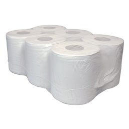 Cleaning roll 1 Layers White Recycled (EM) 320 Mtr 6 roll - Horecavoordeel.com