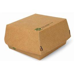 """Hamburger Box Big """"100% FAIR"""" 115 x 110 x 70mm - Horecavoordeel.com"""