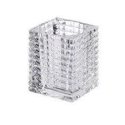 Bolsius Professional Tealight holder Ribbed Transparent 76/58